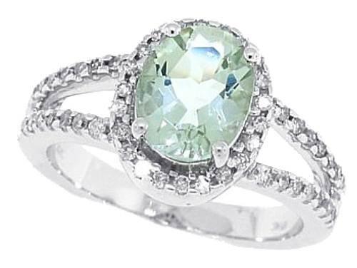 Green Amethyst Wedding Ring Models