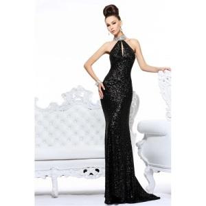 High Neck Long Prom Dresses 2013
