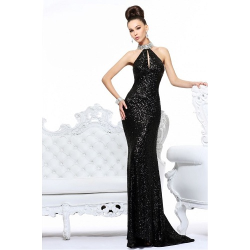High Neck Long Prom Dresses 2013