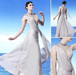 High Neck Long Prom Dresses Styles