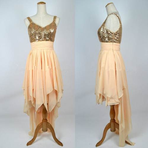 Long Prom Dresses Gold Styles