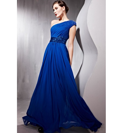 Long Prom Dresses One Shoulder Designs