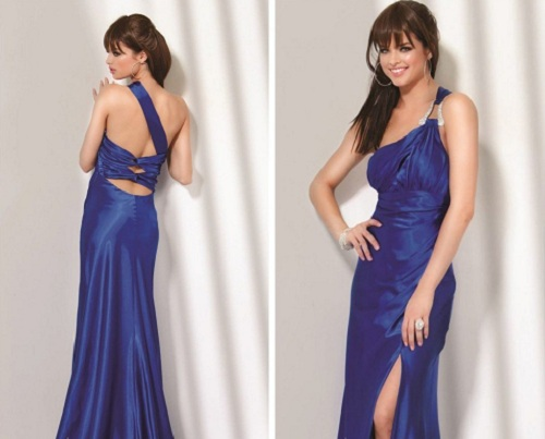 Long Prom Dresses One Shoulder for Women