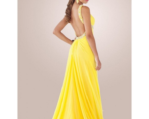 Long Prom Dresses Open Back 2013