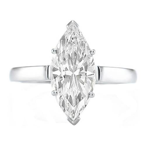 Marquise Solitaire Rings UK