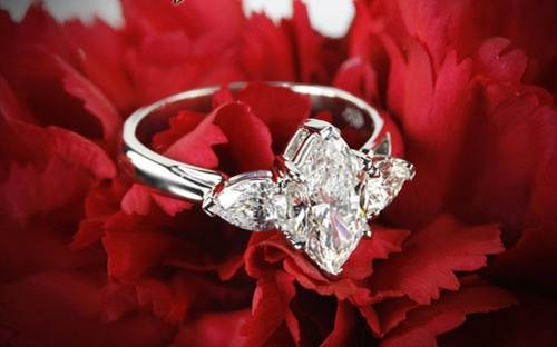 Marquise Solitaire Rings for Sale