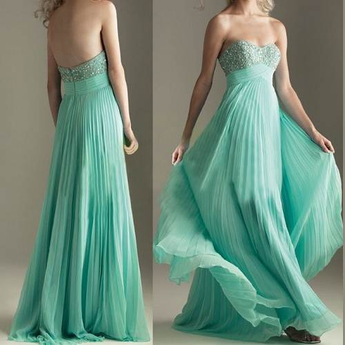 Mint green Long Prom Dresses 2013