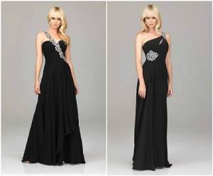 Navy Blue Long Prom Dresses 2013