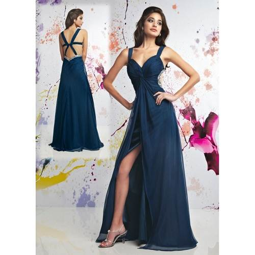 Navy Blue Long Prom Dresses Styles