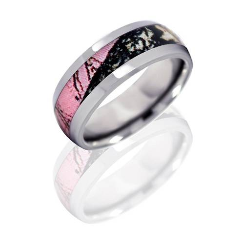 Pink Camouflage Engagement Rings Styles