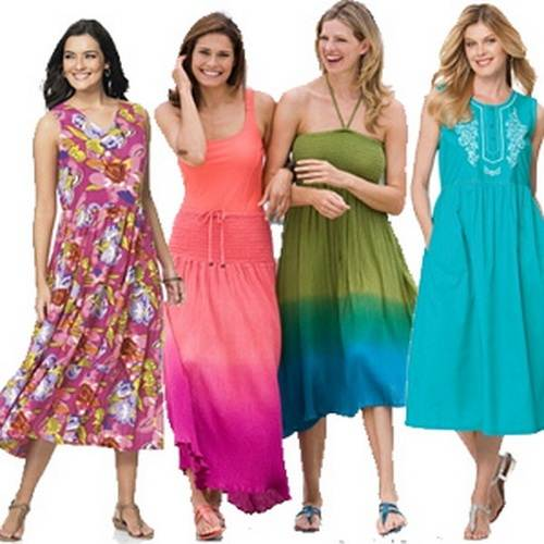 Plus Size Sundresses Long