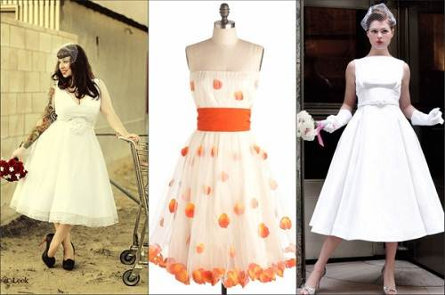 Retro Wedding Dresses Tea Length