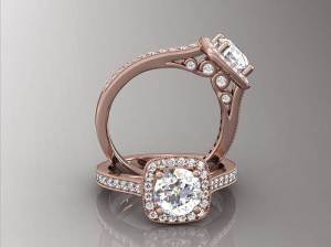 Rose Gold Engagement Rings Vintage