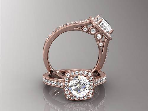 Rose Gold Engagement Rings Vintage