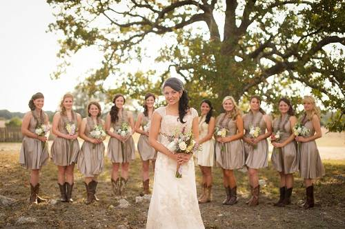 Rustic Country Wedding Bridesmaid Dresses Details