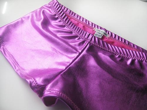Shiny Metallic Shorts Purple