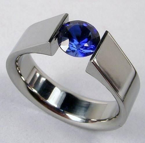 Tension Set Engagement Rings Diamond Settings
