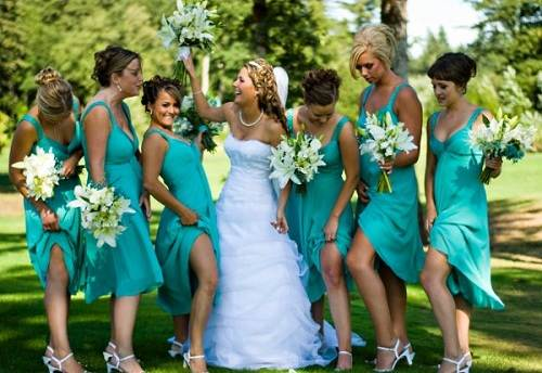 Tiffany Blue Bridesmaid Dresses Cheap