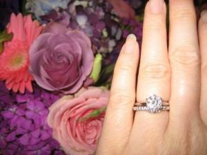 Tiffany Solitaire with Wedding Band Images