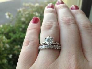 Tiffany Solitaire with Wedding Band Sale
