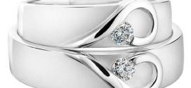 Two Plain Wedding Rings with Solitaire Innovative Ideas