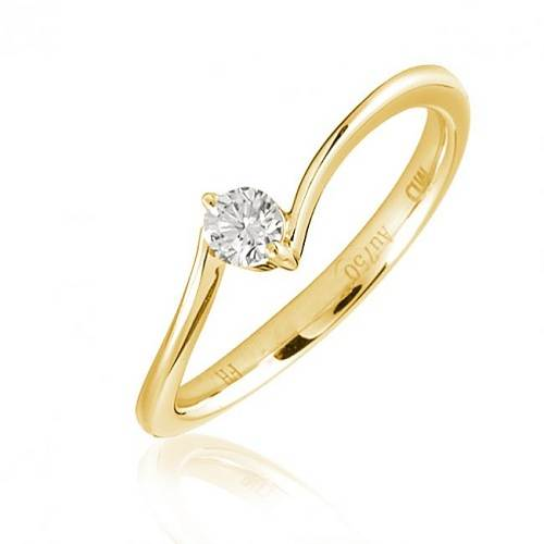 Two Plain Wedding Rings with Solitaire Pictures