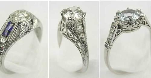 Unique Engagement Rings Antique Images