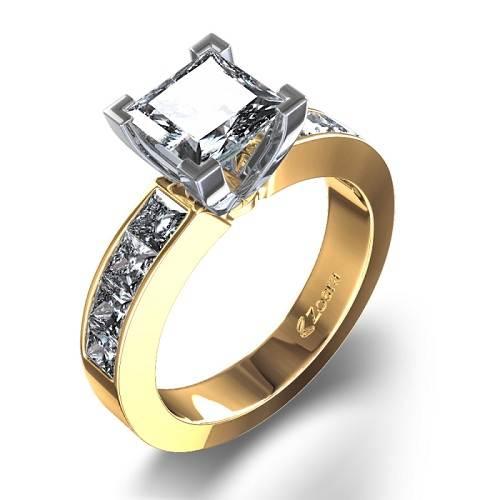 Unique Princess Cut Rings Gold