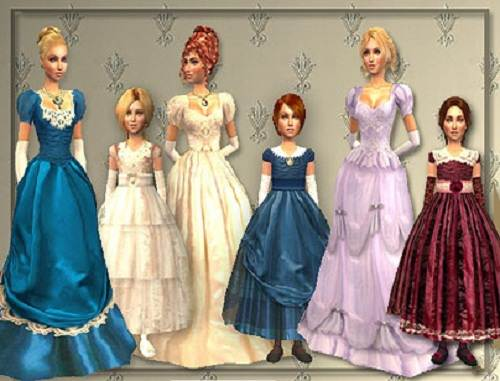 Victorian Dresses for Kids Images