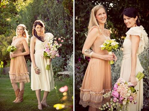 Vintage Bridesmaid Dresses with Lace