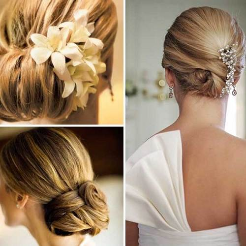 Wedding Hairstyle with Flowers 2013