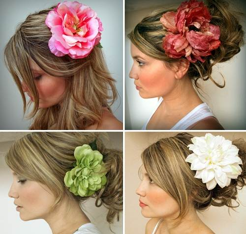 Wedding Hairstyle with Flowers Ideas