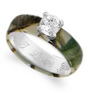 Wetlands Camo Wedding Rings 2013