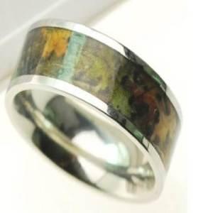 Wetlands Camo Wedding Rings Options