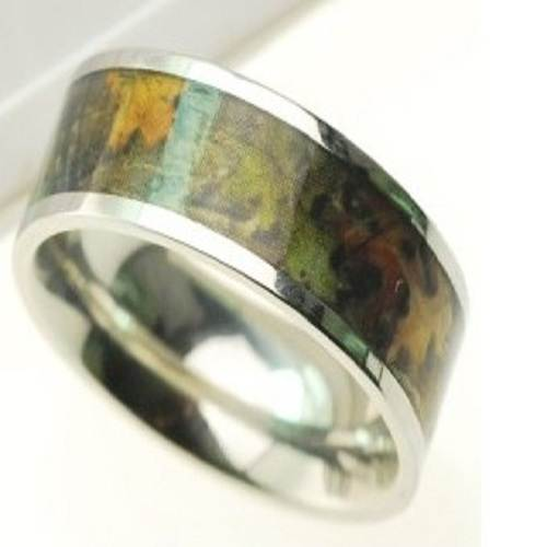 Wetlands Camo Wedding Rings Options