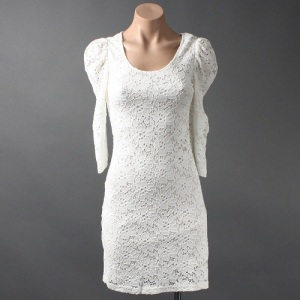 White Club Dress Plus Size