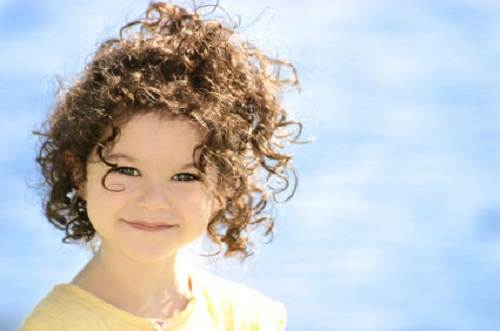 Children S Short Curly Hairstyles With Bangs Fashion Female