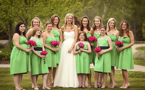 Green Bridesmaid Dresses Uk
