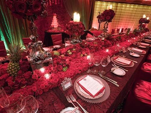 Wedding Reception Ideas Red