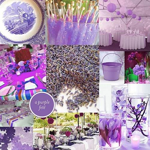 Wedding Shower Ideas Purple