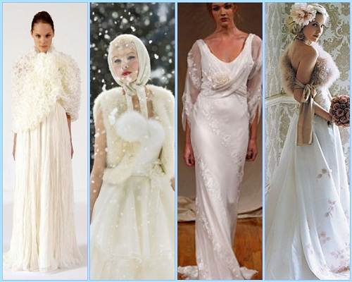 Winter Wedding Dresses with Sleeves