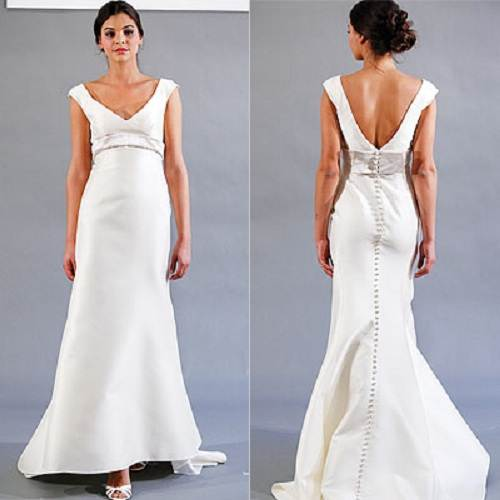 Backless Wedding Gown with Bow