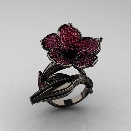 Black Gold Rings for Women