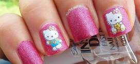 Hello Kitty Nail Art Tutorial Tips with Nail Stickers