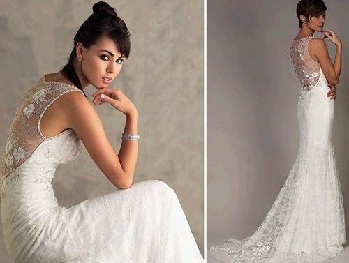 Lace Low Back Wedding Dress Styles