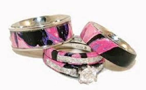 Pink Camo Diamond Ring Cheap