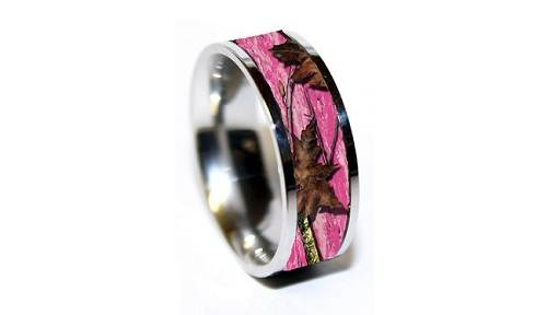 Pink Camo Diamond Ring Sale