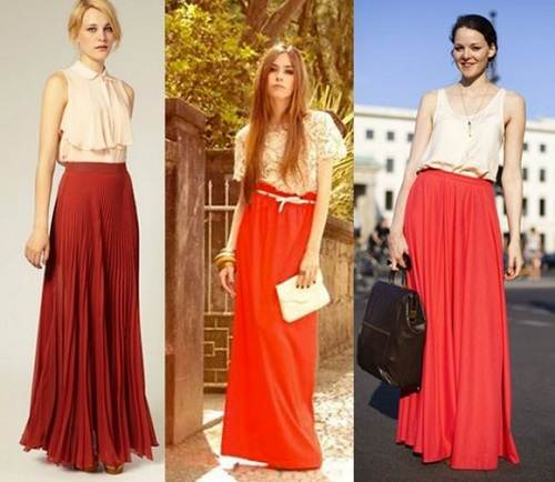 Red Maxi Skirts Images