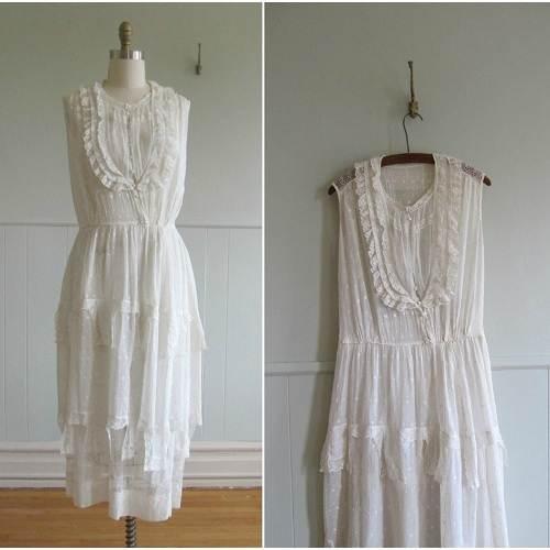 White Cotton Wedding Dress Images