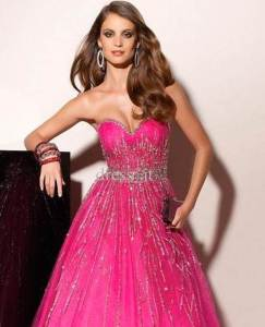 Beautiful Sparkly Prom Dresses Pink